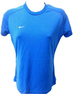 Nike Dri Fit Performance Ladies Shirt Short Sleeve Blue