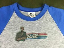 Vintage Mens S 80s G.I. Joe Hasbro Cartoon Gray Blue Raglan Paper Thin T-Shirt