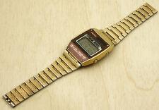 Seiko A158-503B Gold Tone Digital Watch 35X40mm