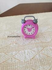 """18"""" doll pink bedroom nightstand CLOCK~ Our Generation~American Girl"""