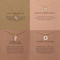 Fashion Women Charm Unicorn Pendant Gold Clavicle Chain Choker Necklaces