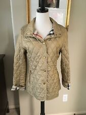 Authentic Burberry Quilted Metallic Gold Jacket Size Small $595