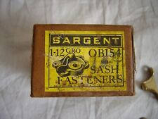Vintage Window Sargent Sash Fasteners Latch and Lock Set of 15
