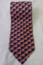 Beaufort Patriotic Silk Necktie American Flag Made in Italy Men 60 x 4