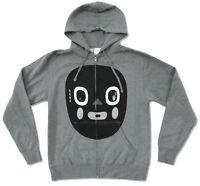 N.E.R.D. Blob Face Grey Zip Hoodie Sweatshirt New Official Nerd Pharrell