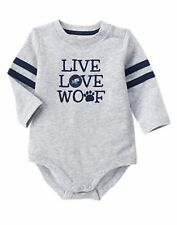 Gymboree PUPS & BUNNIES Live Love Woof gray bodysuit size 18-24 months NWT