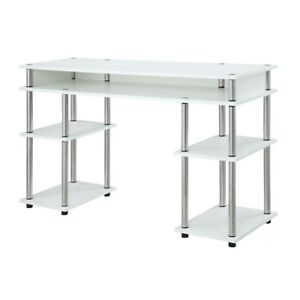 Convenience Concepts Designs2Go No Tools Student Desk, White - 131436W