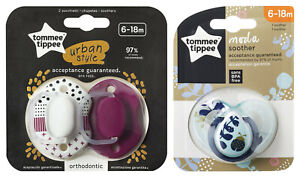 TOMMEE TIPPEE BPA FREE SOOTHER ORTHODONTIC MODA 6-18M BABY DUMMIES