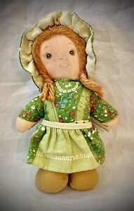 "Vintage 1975 Holly Hobbie - AMY Cloth Doll KNICKERBOCKER 5"""