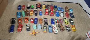 LARGE lot 48 Disney Pixar Cars Diecast and Plastic Cars Mator McQueen and more