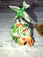 Vintage with tag Naturalist Collection Porcelain Bell Hummingbird Otagiri Japan