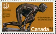 Canada  # 656    THE OLYMPIC SPRINTER      Brand New 1975 Pristine Original Gum