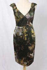 Elie Tahari Sz 4 MEREDITH 100% Silk Emerald City Sheath Dress $448 NWT 3099 L91D