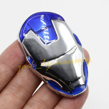 Silver Metal Untra Blue Ironman Mask Latest Car Emblem Badge Decal Accessories