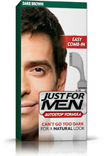Just For Men AutoStop Ready to Use Mens Hair Colour Dye DARK BROWN Restorer