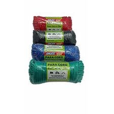 Grunt PARA CORD 3mm x15m Abrasion Resistant 1 Roll - Green, Blue, Black Or Red