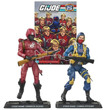 GI JOE 25TH ANNIVERSARY COMIC PACK - Crimson Guard & Scarred Cobra Officer