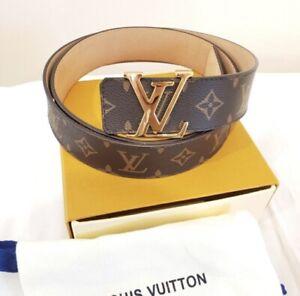 AUTHENTIC LOUIS VUITTON LV INITIALES REVERSIBLE BELT- M0158Q (Size: 110EU/44US)