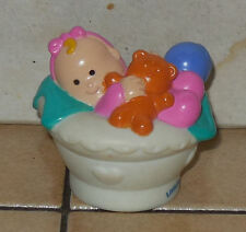 Fisher Price Current Little People Baby In Basket Figure #2