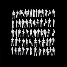 10 PCS 1:50 scale model human scale HO model ABS plastic peoples New