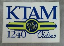 KTAM Bumper Sticker 1240 Radio Station 1989 NOS Rock n Roll Oldies Bryan Texas