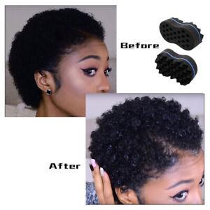 2Pcs Hair Twist Sponge Brush Dread Dreading Wave Twisting Foam Afro Barber Curl