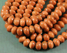 Goldstone - LARGE HOLE Beads - 8x12mm - Saucer - 8 Inch Strand - 2.5mm Hole