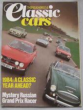 Classic Cars 01/1984 featuring Alfa Romeo Zagato, Lotus, Rolls Royce, BMW 328