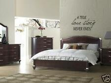 TRUE LOVE STORY Home Bedroom Decor Wall Art Decal