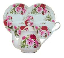 Summertime Rose Bone China Tea Set For Two Made In England