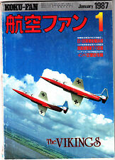 Koku-Fan Magazine January 1987 #1 Japanese Military Aircraft Top Gun Alameda