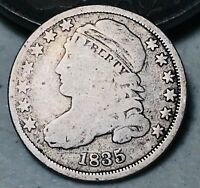 1835 Capped Bust Dime 10C Higher Grade Good Date Early 90% Silver US Coin CC5005