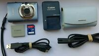Canon IXUS 82 IS 8.0MP Digital Camera - Blue + 4 GB Memory Card + Case Bundle