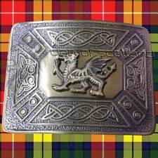 Highland Kilt Belt Buckle Welsh Dragon Antique Finish/Scottish Celtic Buckles