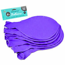 "Purple 36"" Large Giant Latex Big Oval Balloon Wedding Party Decoration - 6 Pack"