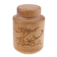 Tea Coffee Storage Boxes Case Bamboo Canister Seal Pot Bottle Jars with Lid