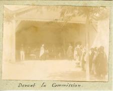 Tunisie, Devant la commission ca.1897 vintage citrate print Vintage citrate prin