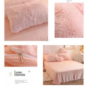 Shaggy Luxury Bedding Set Velvet Duvet Cover Winter Warm Soft Pillowcase Sheet