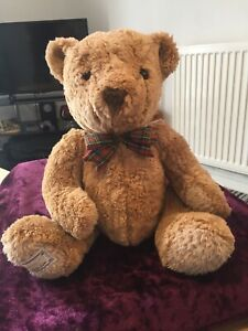 Marks&Spencer Teddy Bear from the Connoisseur collection with a tartan bow tie