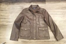 Women's Vintage CHAPS Brown Leather Jacket size large