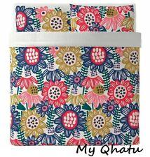 IKEA Sommaraster King Duvet Cover and 2 Pillowcases White Multicolor 504.232.95