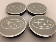 SUBARU Cache Moyeux Centres de Roue Alu Emblem 4p x 60mm/55mm  *NEUF*