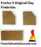Firefox 5 Genuine Original Clay Firebricks Brick Side Rear Back Fire Fox