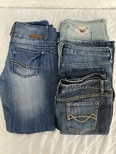 Lot Of 5 Womens Jeans Mossimo Almost Famous Boot Cut Skinny Size 13