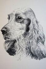 Francis Wardle 1935 Cocker Spaniel Vintage Dog Art Print Matted