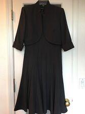 Macy's R & M RICHARDS 2pc Dark Gray Blazer & Tailored Dress Suit SIze 6