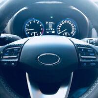 Carbon Look Volante Panel Cubierta Tapa Guarnición Para Hyundai i30 PD PDE