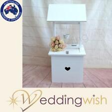 White Timber Wishing Well with Small Heart Detail