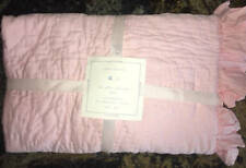 New~Pottery Barn Kids The Ruffle Collection Pink Crib Toddler Nursery Quilt