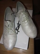 New In Box Forever 21 Silver glitter suede lace up shoes- Size 8